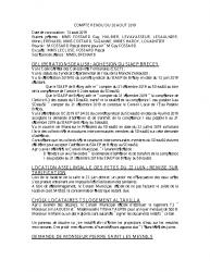 COMPTE RENDU DU 20 AOUT 2019