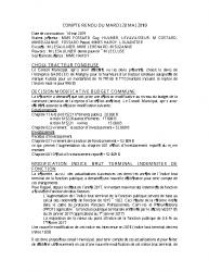 COMPTE RENDU DU 28 mai 2019