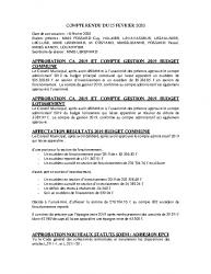 COMPTE RENDU DU 25 FEVRIER 2020