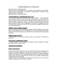 COMPTE RENDU DU 3 JANVIER 2020