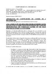 COMPTE RENDU DU 2 FEVRIER 2021