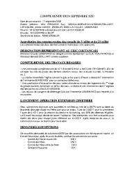 COMPTE RENDU DU 24 SEPTEMBRE 2020