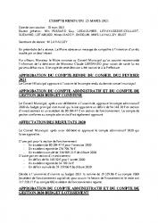 COMPTE RENDU DU 25 MARS 2021