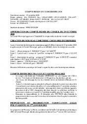 COMPTE RENDU DU 8 DECEMBRE 2020