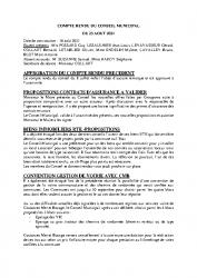 COMPTE RENDU DU 23 AOUT 2021