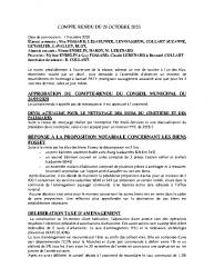 COMPTE RENDU DU 29 OCTOBRE 2020